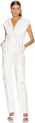 Jonathan Simkhai Hayley Parachute Jumpsuit in Ecru | FWRD