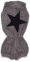 Nununu Baby Girl's Star Patch Muslin Yoga Overall