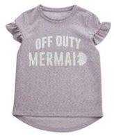F&F Sparkle Mermaid Slogan T-Shirt, Girl's