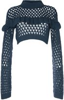 Glamorous **Cropped Frill Knit Jumper