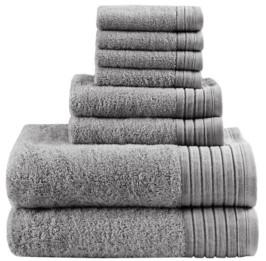Madison Home USA Signature Mirage Solid 100% Cotton 8-Pc. Towel Set Bedding