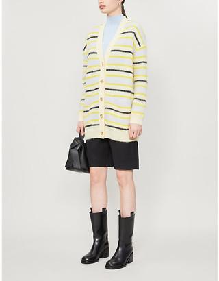 Acne Studios Striped V-neck knitted cardigan