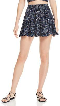 Sage the Label Waiting for You Floral-Print Mini Skirt