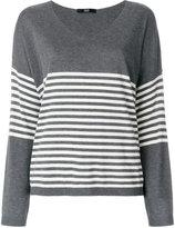 Steffen Schraut stripe panel sweatshirt