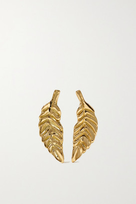 Brooke Gregson Leaf 18-karat Gold Earrings
