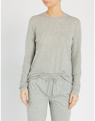 Skin Long-sleeved cotton-jerey pyjama top