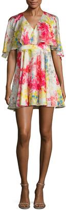 Jay Godfrey Bronfman Floral Printed Flare Dress