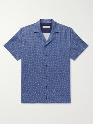 Orlebar Brown Travis Nerano Slim-Fit Camp-Collar Cotton And Linen-Blend Shirt