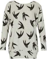 Izabel London Bird Print Knit Top