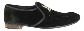 Louis Vuitton Black Velvet Flats