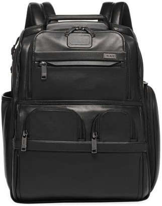 Tumi Leather Compact Laptop Brief Pack
