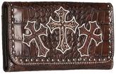 M&F Western - Triple Cross Wallet (Brown) - Bags and Luggage