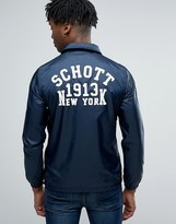 Schott Coach Jacket Back Logo in Navy