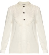 Miu Miu Crepe shirt with silk-organza trim