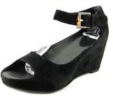 Johnston & Murphy Tricia Women Open Toe Suede Black Wedge Sandal.