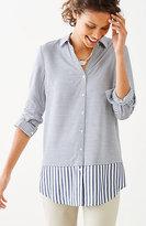 J. Jill Mixed-Stripes Shirttail Tunic