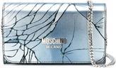 Moschino cracked effect wallet crossbody bag