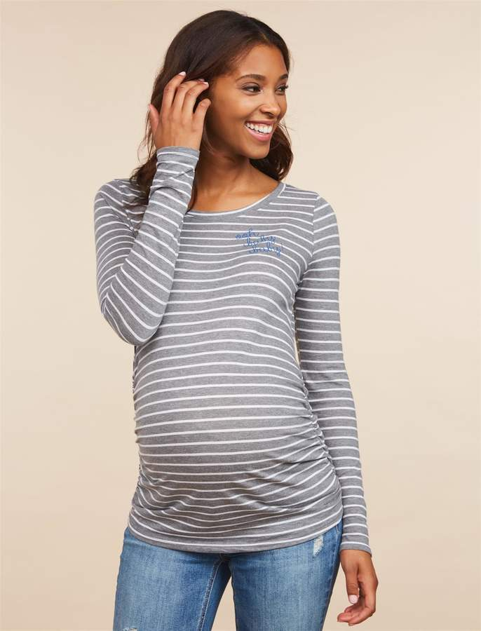 Motherhood Maternity Ooh Baby Baby Long Sleeve Maternity T Shirt