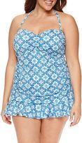 Liz Claiborne Pattern Swim Dress Plus