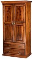 Forest Designs Traditional Antique Wardrobe: w/ Two Drawers