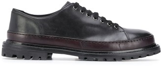 Premiata Two-Tone Lace-Up Derby Shoes
