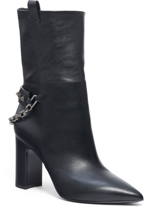 Valentino Rockstud Chain Pointy Toe Boot