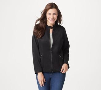 Belle By Kim Gravel Faux Suede Zip-Front Jacket