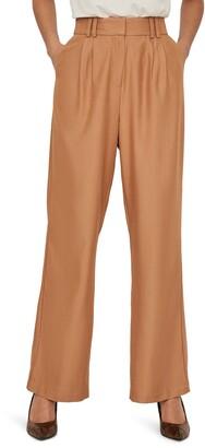 AWARE BY VERO MODA Minna High Waist Pleat Front Pants