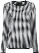 Giambattista Valli houndstooth pattern jumper