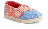Toms Classic Tiny Stars & Stripes Slip-On Shoe (Baby & Toddler)