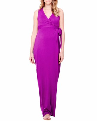 Ingrid & Isabel Women's Maternity Sleeveless Wrap Maxi Dress