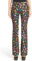 Moschino Embellished Floral Print Pants