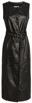 Sportmax Capo Leather Belted Dress