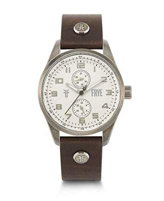 Frye Bowery Stainless Steel Japanese Quartz Leather Strap