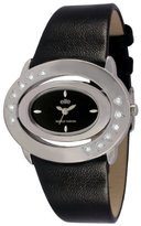 Elite Ladies Watch E5098 2S 003 with Alloy Case, Leather Strap Stainless Steel Caseback