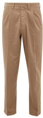 BEIGE The Gigi - Santiago Cotton-blend Twill Tapered Trousers - Mens - Dark