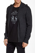 John Varvatos Collection Hooded Cashmere Leather Trimmed Sweater