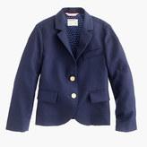 J.Crew Girls' two-button schoolboy blazer