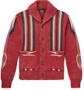 RRL - Shawl-Collar Cotton, Linen and Silk-Blend Jacquard Cardigan