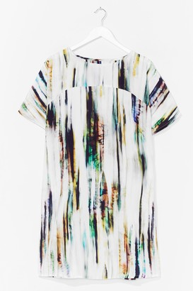 Nasty Gal Womens Tie Dye Woven T-Shirt Dress - Cream