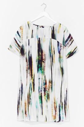 Nasty Gal Womens Tie Dye Woven T-Shirt Dress - White - S