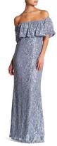 Marina Embellished Off-The-Shoulder Long Dress