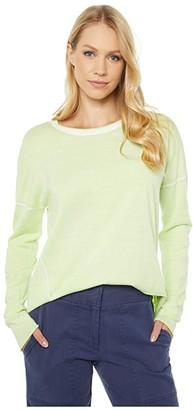 Elliott Lauren Luminosity Crew Neck Sweater with Seam Detail (Kiwi) Women's Clothing