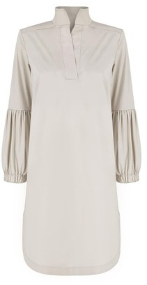 Monica Nera Colette Beige Cotton Dress