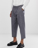 Twisted Tailor tapered cropped pants in tweed