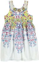 Mimi & Maggie Lace & Mini Flowers Dress (Toddler/Kids) - Blue-4T