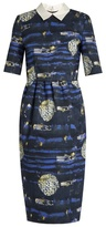 Stella Jean Badare point-collar abstract-print dress
