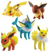 Pokemon Flareon, Jolteon, Vaporeon, Pikachu (Pose Q), Eevee (TI Pose) Figures