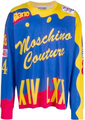 Moschino printed long-sleeved T-shirt