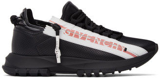 Givenchy Black Leather Spectre Zip Low Sneakers